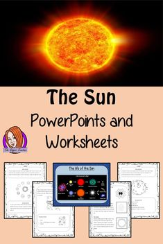 The Sun of our Solar System PowerPoint and Worksheets from The Ginger Teacher Science Resources, Science Lessons, Lessons For Kids, Teacher Resources, Tes Resources, Star Science, Primary Science, Teaching Science, Teaching Kids