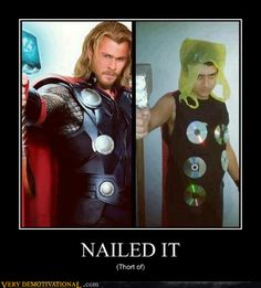 Funny pictures about Thor with financial restrictions. Oh, and cool pics about Thor with financial restrictions. Also, Thor with financial restrictions. Thor Meme, Loki Thor, Humour Geek, Walt Disney, Funny Jokes, Hilarious, Nerd Funny, Demotivational Posters, Halloween Disfraces