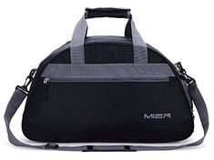 4484cd75bfe Buy Our MIER Gym Bag Sports Holdall Weekend Travel Duffel Bag with Shoes  Compartment for Women and Men, 2 Colors (Black) Guaranteed Service