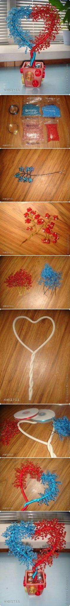 Como hacer Árbol de Amor paso a paso las INSTRUCCIONES de bricolaje fotos tutorial 400x3420 Como hacer Árbol de Amor paso a paso las instrucc ...