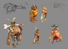 Stone Age, Characters on Behance