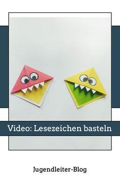 Mit Papier und Kleber kannst du schnell eines dieser süßen und lustigen Lesezeichen (mit Monster-Gesicht) basteln. Viel Spaß damit! Monster, Kindergarten, Blog, Collage, Activities, Paper, Game Ideas, Young Adults, Round Round