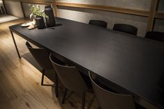 W-Solid #iTOPKer Solutions by #Inalco, evocative of wood reduced to a minimum of expression