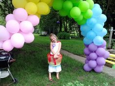 A simple DIY that lets you make a festive balloon arch for $10 or less!  A HUGE hit with the kiddos - promise!
