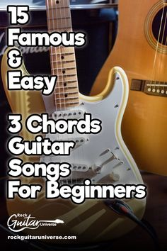 to play some famous songs on your guitar? Here are 15 easy 3 chord guitar songs that every beginner can easily play. Guitar Chords For Songs, Music Chords, Guitar Chord Chart, Music Guitar, Playing Guitar, Learning Guitar, Learning Music, Guitar Kits, Ukulele