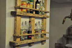 palet bar shelf, reclaimed wood, recycle, wooden, woodcraft, shelf, wooden furniture, rustic, wood store equipment