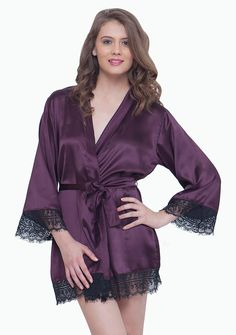 Faballey satin robe