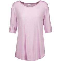 Vince - Stretch-jersey T-shirt ($57) ❤ liked on Polyvore featuring tops, t-shirts, baby pink, vince t shirts, slouchy t shirt, slouch tee, stretch jersey and pink tee