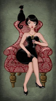 """Cocktail dress"" by Vian. I need this framed somewhere in my apartment!"