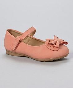Look what I found on #zulily! Coral Bow Mary Jane #zulilyfinds
