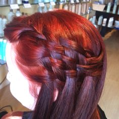 Basket weave braid. It amazes me how many different ways ppl have learned how to braid hair. ridiculous!