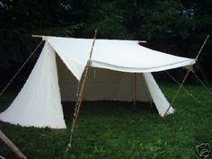 ANGLO Saxon Tent Reenactment pre medival knight tent | eBay