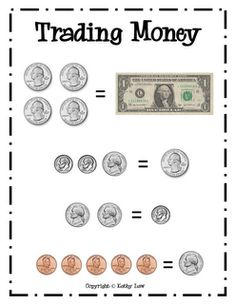 Cute Trading money sign to use with calendar piggy bank. (free!!)