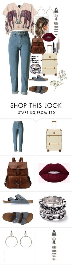 """""""Riley"""" by dianka-bernathova ❤ liked on Polyvore featuring Bric's, Birkenstock, WithChic, Luv Aj, Nasty Gal and MAC Cosmetics"""