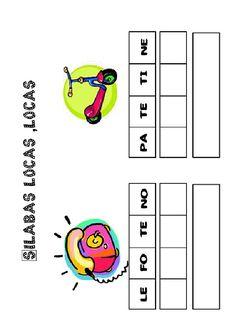 Actividades para imprimir Pon las sílabas en orden 22