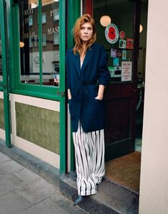 Clémence Poésy Wears Pajama-Cool In Benjamin Vnuk Images For The Edit March 3…