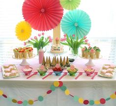 Ice Cream Social Party Ideas/Inspiration ~ Party Frosting