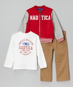 Another great find on #zulily! Red Rouge Jacket Set - Infant, Toddler & Boys #zulilyfinds
