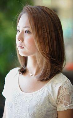 Elegant hairstyles for straight medium length hair with bangs  #bangs #elegant #hairstyles #length #medium #straight