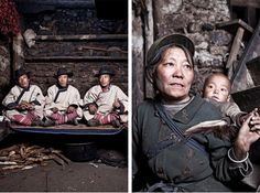 It took photographer Memphis Mok over two and a half day's to trek over the Mountains to reach the mystical valley-based village, E'ya. Memphis took some amazing pictures of the village people who are part of the Naxi Minority and who still live a simple mountain life in this remote area in the Yunnan province.