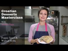 A couple of months ago, Andrea Pisac launched her Croatian Desserts Cookbook. This was to the delight of many Croats living abroad who now have the opportunity Dalmatia Croatia, Dessert Cookbooks, Croatian Recipes, Master Class, Opportunity, Rolls, Couple, Baking, Youtube