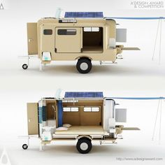 56 Best Cool Caravans, Camper Vans (RVS) Ideas for Traavel Trailers Diy Camper Trailer, Tiny Camper, Camper Caravan, Camper Van, Camping Trailer Diy, Rv Campers, Motorhome, Casas Trailer, Homemade Camper