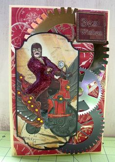 Steampunk 3D Greeting Cards, 3D Elements by BrushFancy on Etsy