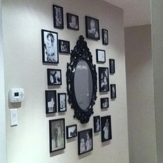 I hadn't thought of including a mirror in our gallery wall.  Hmmm...