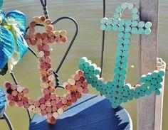 Wine cork anchors