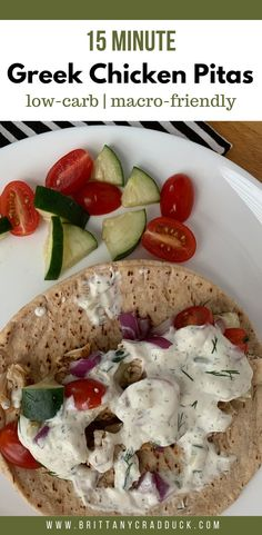 Coming Soon Need a simple and healthy lunch? These greek chicken pitas only take 15 minutes to make and are only 155 calories each! With only 9 grams of carbs they are sure to fit into your diet. They also would be great to meal prep! Lunch Recipes, Low Carb Recipes, Diet Recipes, Healthy Recipes, Diet Meals, Recipes With Macros, Simple Healthy Dinner Recipes, Easy Recipes, Healthy Dishes