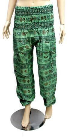 Boho Hippie, Bohemian, Cotton Pants, Krishna, Parachute Pants, India, Yoga, Amazon, Women
