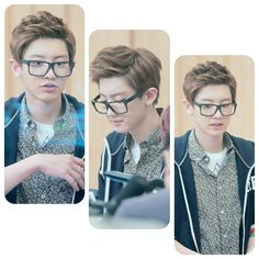 Chanyeol is so handsome with glasses !!