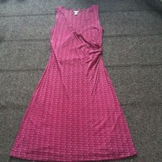 Purple Dress 100% nylon, color is best portrayed in pic 3. Dark purple pattern. Kenneth Cole Reaction Dresses