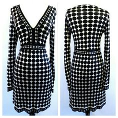 "LOWEST Custo Barcelona Polka Dot Mirror Dress Great condition. Size 3. Fits like a US small. 100% viscose.  Armpit to armpit laid flat - 16"" Waist - 13"" laid flat Length - 38"" Stretch material. Custo Barcelona Dresses"