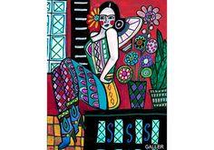 Arte popular mexicano vaquera Pin Up arte por HeatherGallerArt                                                                                                                                                                                 Más