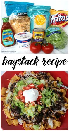 Haystack recipe....my hubbys favorite!! A twist on regular tacos!