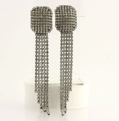 Authentic Dannijo Statement Earrings - Silver Toned Swarovski Crystals Fashion #Dannijo #DropDangle $129.99
