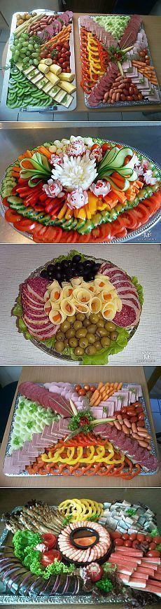 Idée de présentation de plats pour buffet (Pour Cuisine)