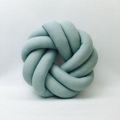 Circle Duck Egg Blue Macrame Petite Knot Cushion