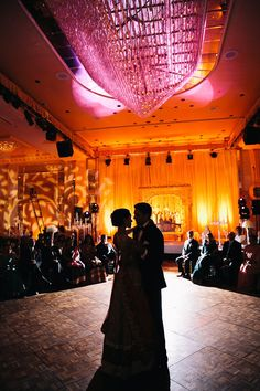 The silhouette of their first dance as man and wife.