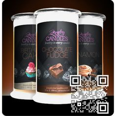 Who want a treat?Jewerly in candles have chocolate fudge,cake and cinnamon candle, yummmmmy...Try our Guilty Pleasure Collection