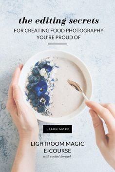 Learn Lightroom for food photos. A Masterclass created by professional food photographer, Rachel Korinek. Get that wow factor in your work! Party Photography, Photography Lessons, Food Photography Styling, Modern Photography, Photography Editing, Photography Tutorials, Digital Photography, Amazing Photography, Photography Training