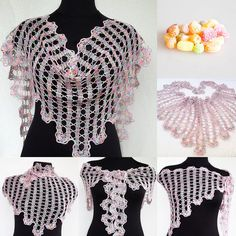 Openwork baktus  Bruges lace  lace shawl  by BeautyburmCollection, $55.00