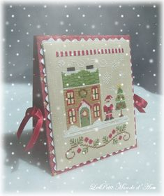 country cottage needleworks santas village - Google Search