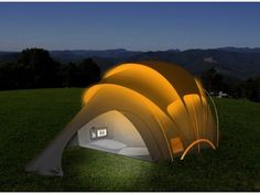 Orange's Futuristic Solar Tent for Stylish Off-Grid Charging : TreeHugger