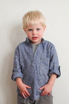 Beatnik Kids Blank Slate Basics: Prepster Pullover boy sewing pattern review sewing Sewing For Kids  Prepster Pullover pattern review boy shirt boy sewing pattern Blank Slate Patterns Blank Slate Basics