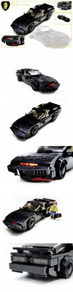 LEGO K.I.T.T.  Knight Rider #lego #legoknightrider #knightrider http://www.Adopt-A-Brick.com/