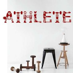 athlete wall decal _ wall art decal _ trendy wall designs