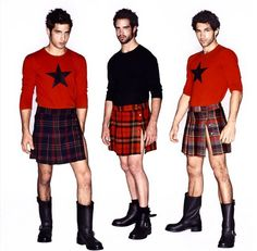 Furthering badly needed change in men's fashion… Guys In Skirts, Boys Wearing Skirts, Cute Skirts, Mode Alternative, Alternative Fashion, Man Skirt, Dress Skirt, Style Masculin, Men In Kilts