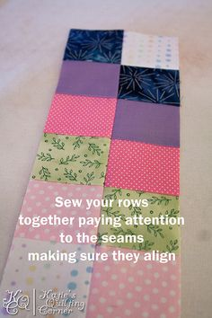 Bargello Placemat Quilt Along – Part 2 – Cutting your tubes, using your seam ripper and sewing rows back together | Katie's Quilting Corner